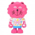 COURTESY IS COOL S016 Cute PVC Lion Desk Decoration Toy - Deep Pink + White + Blue