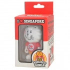 Project Singa S019 I Love Singapore Lion Figure Toy - Red + White + Yellow