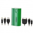 5600mAh External Mobile Power Battery Pack w/ LED Indicators / Adapters - Green