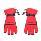 PS006 Winter Warm Full-Finger Ski Gloves for Men - Black + Red (Free Size / Pair)