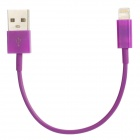 Lighting 8-Pin Male to USB Male Data Charging Cable for iPhone 5 - Purple