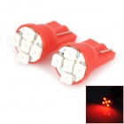 HY006 T10 0.25W 40lm 700nm 5-SMD 1210 LED Red Light Car Steering Light - (DC 12V / 2 PCS)