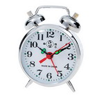 Collector's Silver Plated Alarm Clock Manual Operation
