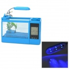 "ZEA-SH 2.1"" LCD AC Powered Fish Tank Aquarium w/ 6-LED Blue Light - Blue (220V / 2-Flat-Pin Plug)"