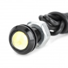 1.5W 102lm Eagle Eye White Light LED Car Daytime Running Light - (DC 12V / 2 PCS / 70cm-Cable)