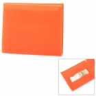 Creative Silicone Flip-Open Wallet w/ Card Slot - Orange Red