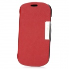 Protective PU Leather Cover Plastic Case for Samsung Galaxy S3 Mini - Red