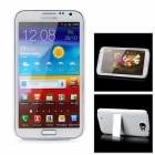 Protective PC Back Case w/ Stand for Samsung Galaxy Note II N7100 - White
