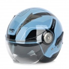 BEON H-12 Retro Harley Dual Face-shield Motorcycle Outdoor Sports Racing Half Helmet - Black + Blue