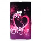 Plum Blossom+ Heart Pattern Protective Silicone Back Case for Nokia Lumia 920 - Red + Black + White