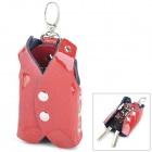 Fashion Vest Style Patent leather Case Box for Keys - Red (Size: S)