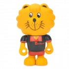 POPULAR S021 Desk Decoration Cute PVC Lion Toy - Black + Red + Yellow