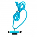 FY-G-04 Dual-Head Capacitive Screen Stylus Pen + Anti-Dust Plug w/ Neck Strap for Iphone - Blue