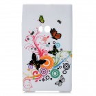 Butterflies and Art Flowers Pattern Protective Silicone Back Case for Nokia Lumia 920 - Multicolored