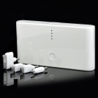 WP330 5V 20000mAh Portable External Battery w/ 4 Adapters for iPad / iPhone / PSP + More - White
