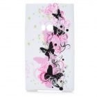 Butterfly Pattern Protective Soft Silicone Case for Nokia Lumia 920 - Colorful