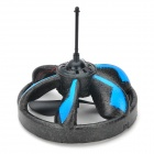 Rechargeable 2-CH IR Remote Control R/C UFO Toy w/ Gyroscope - Black + Blue (6 x AA)