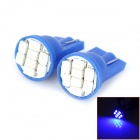 HongYue HY004 T10 0.25W 64lm 490nm 8-SMD 1206 LED Blue Light Car Steering Light - (DC 12V / 2 PCS)