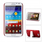 Protective PC Back Case w/ Stand for Samsung Galaxy Note II N7100 - Red