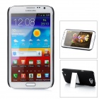 Protective PC Back Case w/ Stand for Samsung Galaxy Note II N7100 - Black