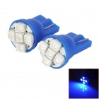 HongYue HY009 T10 0.25W 40ln 450nm 5-SMD 1210 LED Blue Light Car Steering Light - (DC 12V / 2 PCS)