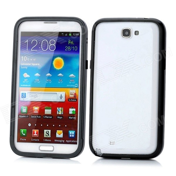 Protective Aluminum Alloy Bumper Frame for Samsung Galaxy Note II N7100 - Black