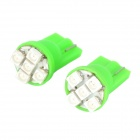 HongYue HY008 T10 0.25W 40lm 560nm 5-SMD 1210 LED Green Light Car Steering Light - (DC 12V / 2 PCS)