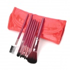 MEGAGA Professionelle 7-in-1 Nylon Fiber Cosmetic Pinsel Set w / Bag - Purple + Red