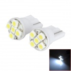 HongYue HY007 T10 0.25W 40lm 5-SMD 1210 LED White Light Car Steering Light - (DC 12V / 2 PCS)