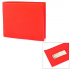 Creative Silicone Flip-Open Wallet w/ Card Slot - Dark Red
