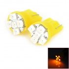 HongYue HY0010 T10 0.25W 40lm 590nm 5-SMD 1210 LED Yellow Light Car Steering Lamp - (DC 12V / 2 PCS)