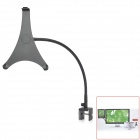 360 Degree Rotational Steel + ABS Desktop Holder for iPad 2 / New iPad / 4 - Black