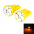 HongYue HY014 T10 0.25W 32lm 550nm 4-SMD 1210 LED Yellow Light Car Steering Light - (DC 12V / 2 PCS)