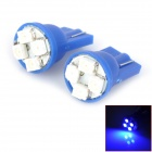 HongYue HY012 T10 0.25W 32lm 450nm 4-SMD 1210 LED Blue Light Car Steering Light - (DC 12V / 2 PCS)