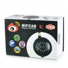 300KP CMOS Surveillance Security Wireless IP Network Camera w/ 11-LED IR Night Vision - White