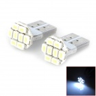 HongYue HY001 T10 0.25W 64lm 8-SMD 1206 LED White Light Car Steering Light - (DC 12V / 2 PCS)