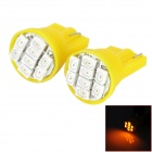 HongYue HY002 T10 0.25W 64lm 560nm 8-SMD 1206 LED Yellow Light Car Steering Light - (DC 12V / 2PCS)