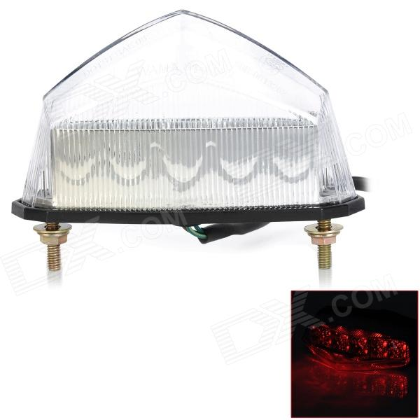 1W 200lm 10-LED Red Light Motorcycle Tail Light (DC 12V) paired ol jt03 led automobile tail light