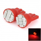 HY003 T10 0.25W 64lm 690nm 8-SMD 1206 LED Red Light Car Steering Light - (DC 12V / 2 PCS)
