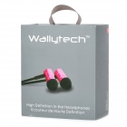 Wallytech WHF-110 In-Ear Earphone w / microfone para Iphone 5 - prata (3,5 mm / 126 centímetros de cabo)