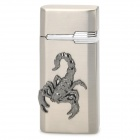Scorpion Pattern Windproof Zinc Alloy Butanfeuerzeug - Silver