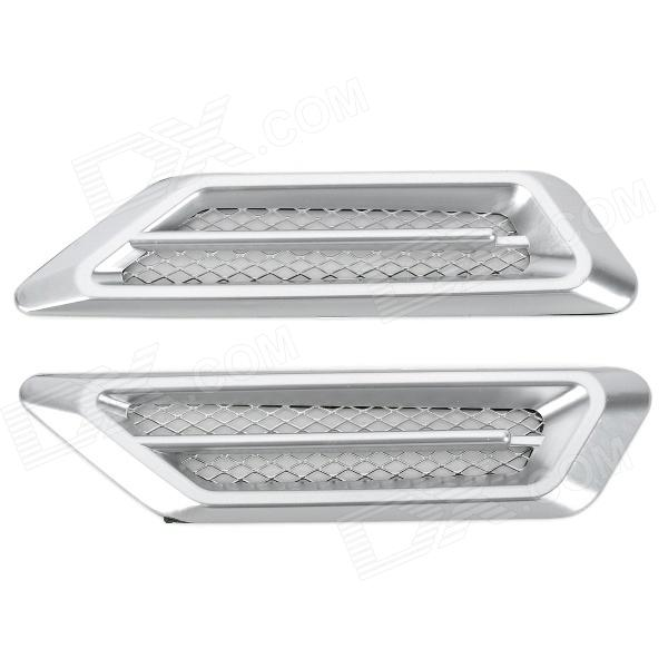 CZW-616 Universal Air Flow Vent Hood Covers for Car - Silver (Pair) universal air flow vent hood covers for car silver pair