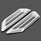 Universal Air Flow Vent Hood Covers for Car - Silver (Pair)