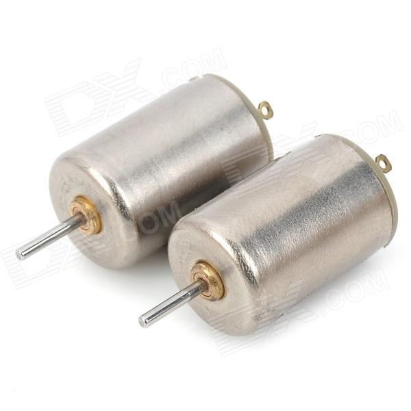 MPX010 High Speed 18000RPM Coreless Motors - Silver (DC 3V / 2 PCS)