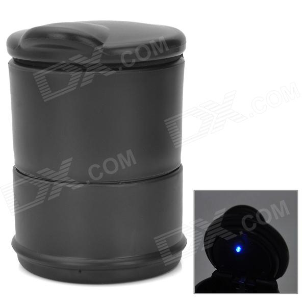 GD002 Car Cigarette Ashtray with Blue LED Light - Black ashtray