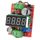 DC 3.2~40V to DC 1.23~37V 4-Digital Voltage Regulation / Reduction Power Module - Red + Green