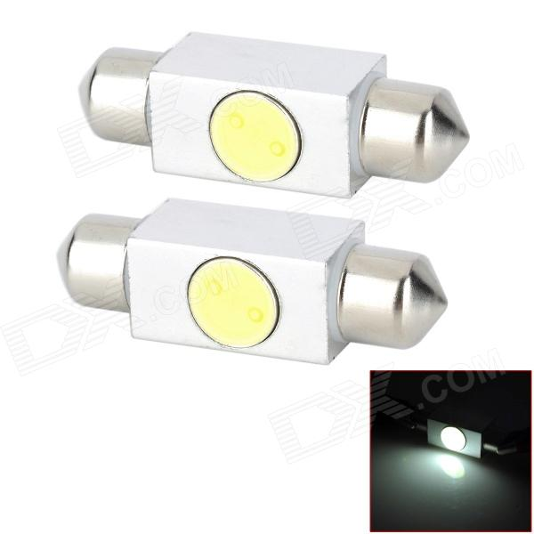 Festoon 36mm 1W 80lm lâmpadas luz branca LED carro Interior - (DC 12V / 2PCS)