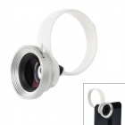 H8001 Universal Clip-On Wide Angle Macro Lens for Iphone 5 / Ipad 4 - Black + Silver