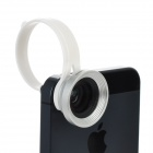 Universal Clip-On Wide Angle Macro Lens for Iphone 5 / Ipad 4 - Black + Silver
