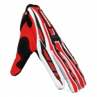 PRO-BIKER CE-01 Motorcycle Racing Gloves - Red + Black + White (Size XL)